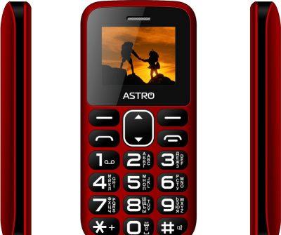 Кнопковий телефон Astro A185 Red