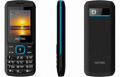 Кнопочный телефон Astro A170 Black/Blue