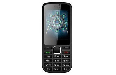 Кнопочный телефон Ergo F242 Turbo Dual Sim Black