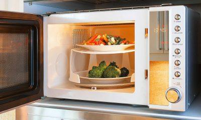 2 яруса овощей в микроволновки
