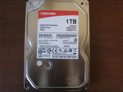 Жёсткий диск Toshiba P300 1TB HDWD110UZSVA