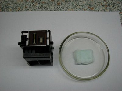 Чистка печатающей головки принтере