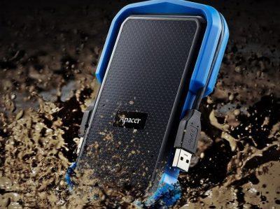 Жорсткий зовнішній диск Apacer AC631 1 TB USB 3.1 Blue (AP1TBAC631U-1)
