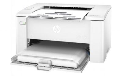 HP LaserJet Pro M102A.