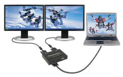 Як підключити два монітори до ноутбука