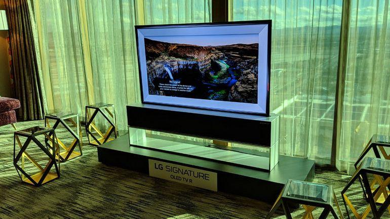 LG-телевизор-рулон с экраном OLED