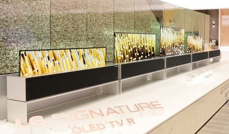 LG-телевизор со сворачивающимся экраном