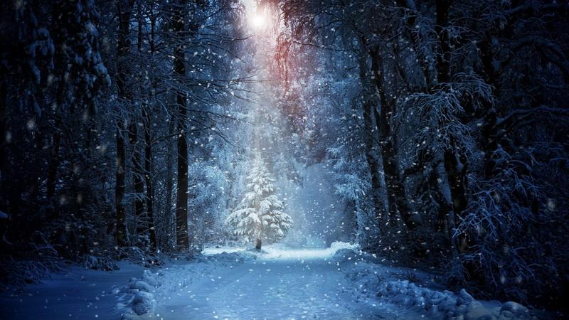 Новогодние чудеса-снег