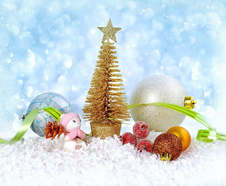 Новогодние праздники-декорация