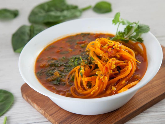 Пряный суп с морковью
