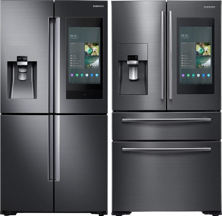Samsung Family Hub-холодильник с дисплеем-CES-2019