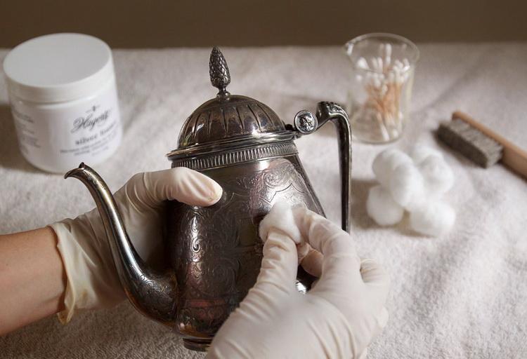 Уход за серебром-чистка