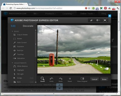 Фоторедактор Photoshop Express для Android