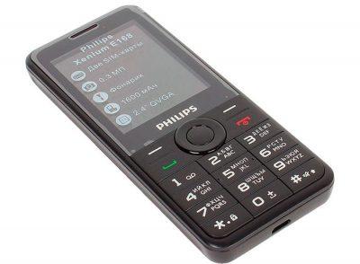 Телефон Philips Xenium E168 Dual Sim Black