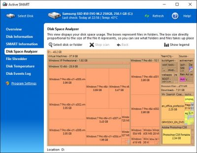 Програма для перевірки роботи твердотільного накопичувача Active SMART