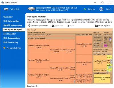 Программа для проверки работы твердотельного накопителя Active SMART