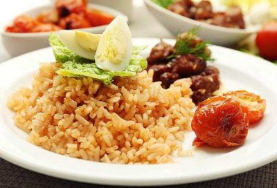 Скільки за часом готується пропарений рис