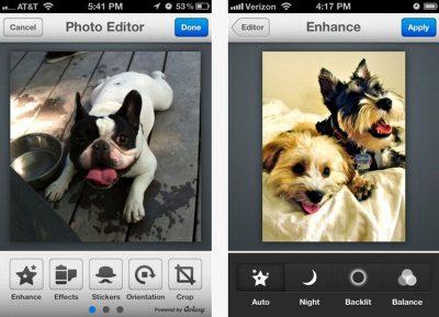 Фоторедактор Photo Editor by Aviary для iOS