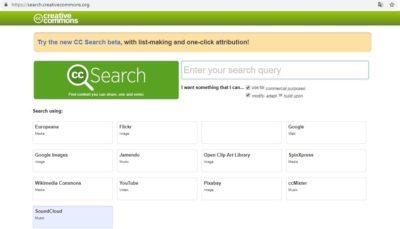 Анонімна пошукова система Creative Commons Search