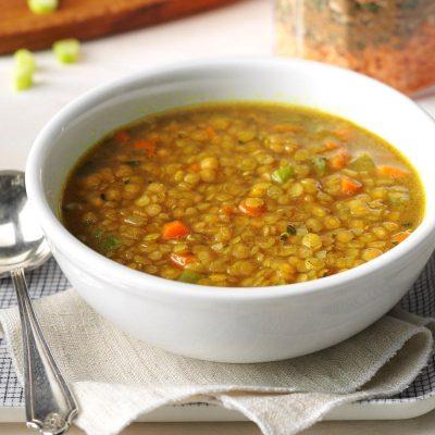 Вегетарианский рецепт супа с чечевицей