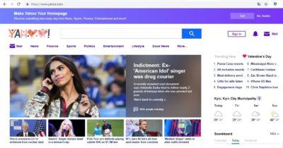 Зарубежная поисковая система Yahoo