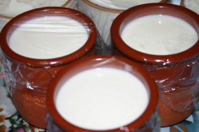 Домашній йогурт у глиняних горщиках