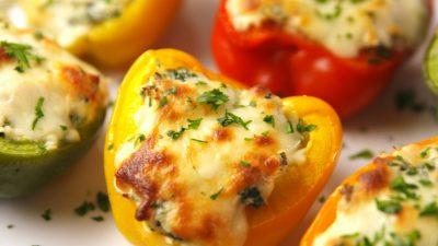 Вегетарианское горячее блюдо - фаршированный перчик