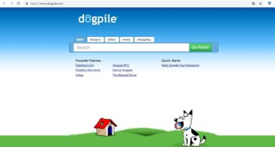 Зарубіжна пошукова система Dogpile