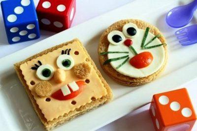 У дитячому меню на день народження обов'язково мають бути веселі бутерброди