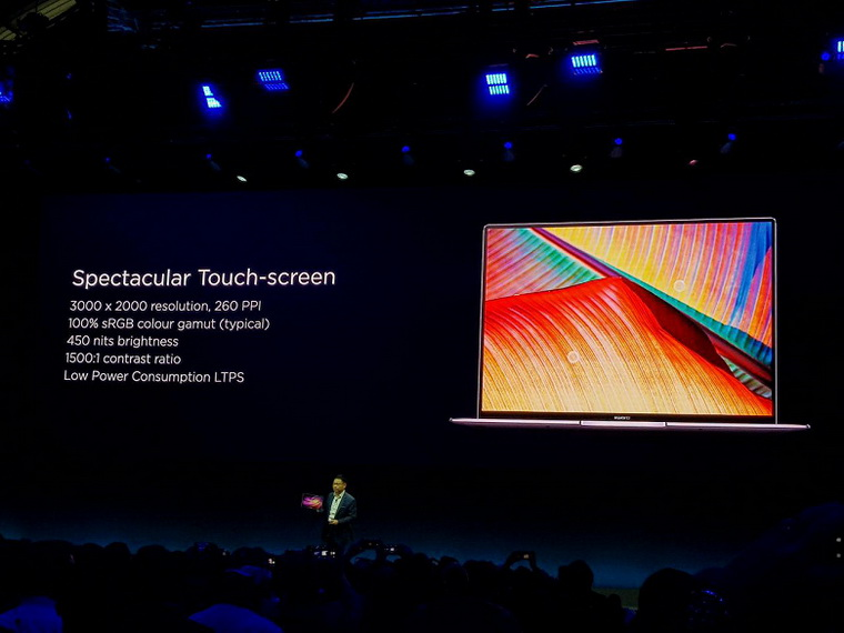 MateBook X Pro-экран