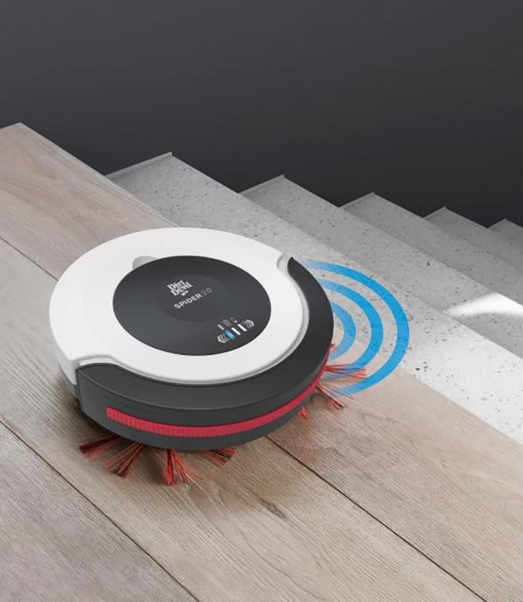 Робот-пылесос на лестнице