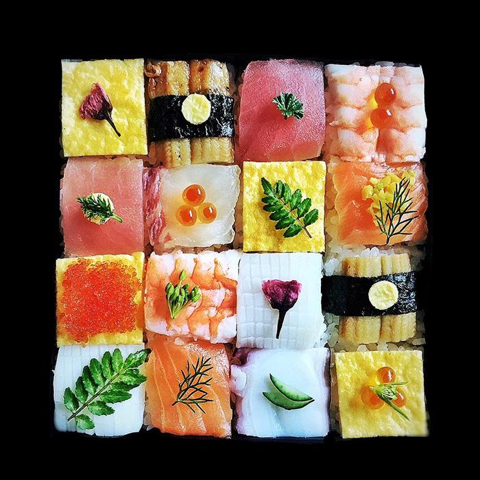 Суши-мозаика-тренд японской кулинарной моды