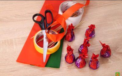 Все необходимое для букета из конфет