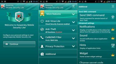 Антивірус Kaspersky Internet Security на Андроїд