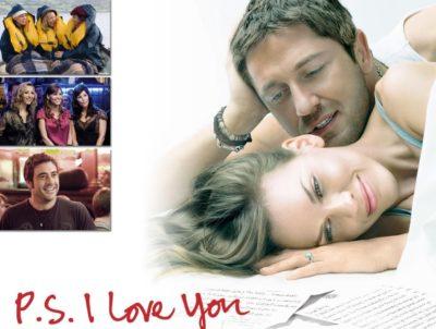 """Чоловік дивиться на жінку і напис """"P.S. Я люблю тебе"""""""