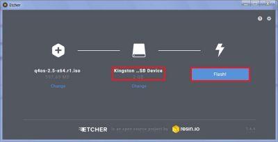 Создания загрузочной флешки с помощью бесплатной утилиты Etcher