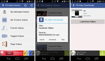 Скачать видео с Фейсбука на смартфон с помощью Video Downloader for Facebook