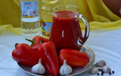Томатний сік з болгарським перцем