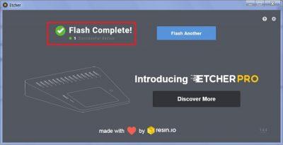 Приложение Etcher для создания загрузочного внешнего накопителя