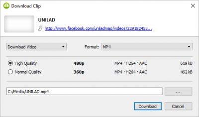 Завантажити відео з Фейсбуку на комп'ютер за допомогою 4K Video Downloader