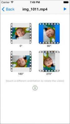 Повернуть видео на операционной системе IOS с помощью Video Rotate