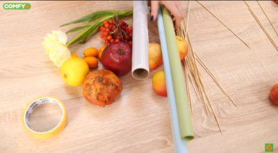 Все необходимое для букета из фруктов
