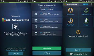 Антивирус AVG Antivirus Free/Pro на Андроид