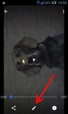 Повернуть видео на Андроид с помощью Google фото