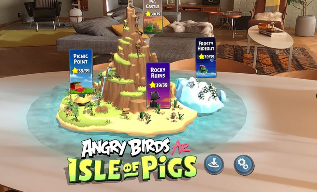 Angry Birds AR Isle of Pigs 4