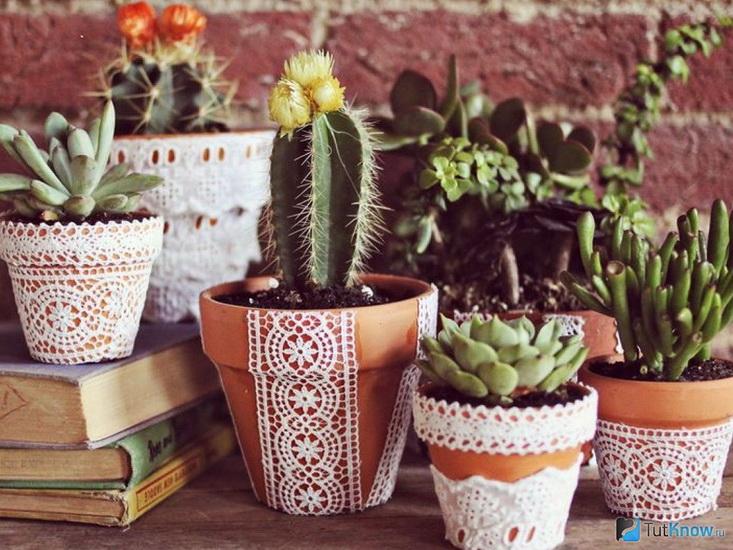 Декор цветочных горшков-зеленый дом