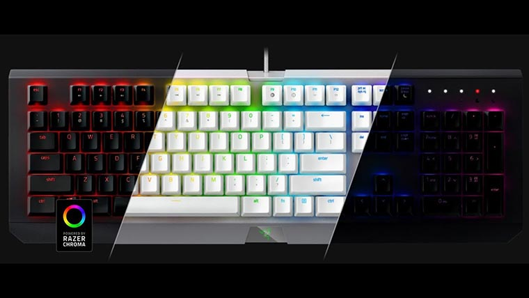 Дизайн Razer BlackWidow X Chroma