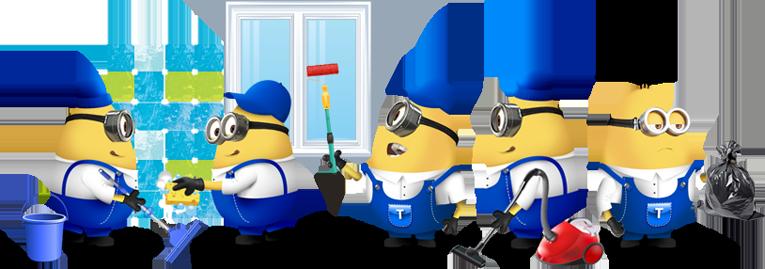 Как провести большую весеннюю уборку дома - миньоны убирают