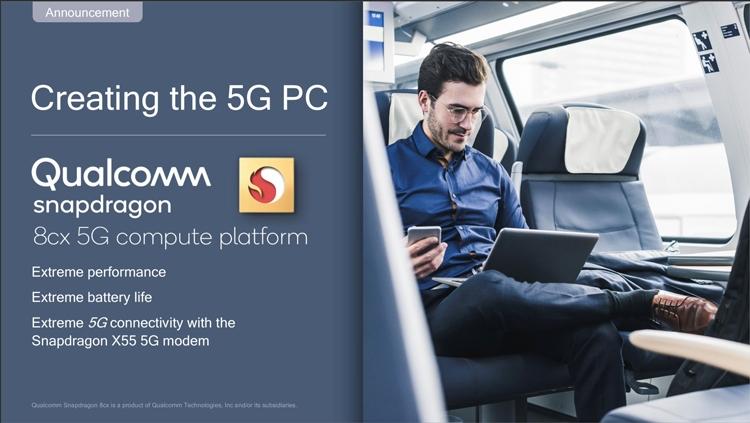 MWC-2019-платформа Snapdragon 8cx 5G