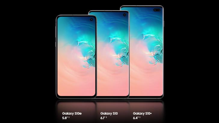 Обзор galaxy S10e_бюджетный флагман от Samsung - размеры дисплеев трёх смартфонов